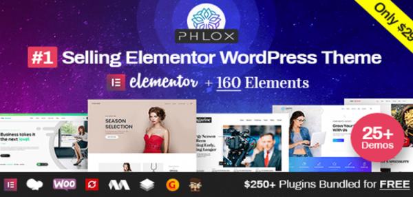 Phlox Pro - Elementor MultiPurpose WordPress Theme 5.5.7