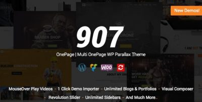 907 – Responsive Multi-Purpose WordPress Theme 5.1.2