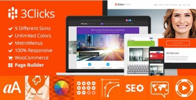 3Clicks – Responsive Multi-Purpose WordPress Theme 3.14