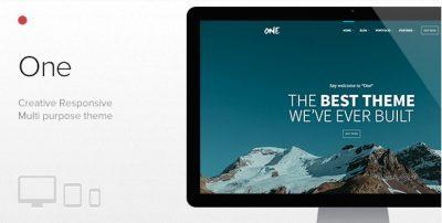 One – The Creative Multipurpose Portfolio Theme 1.8.6