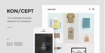 KON/CEPT – A Portfolio Theme for Creative People 1.8.3